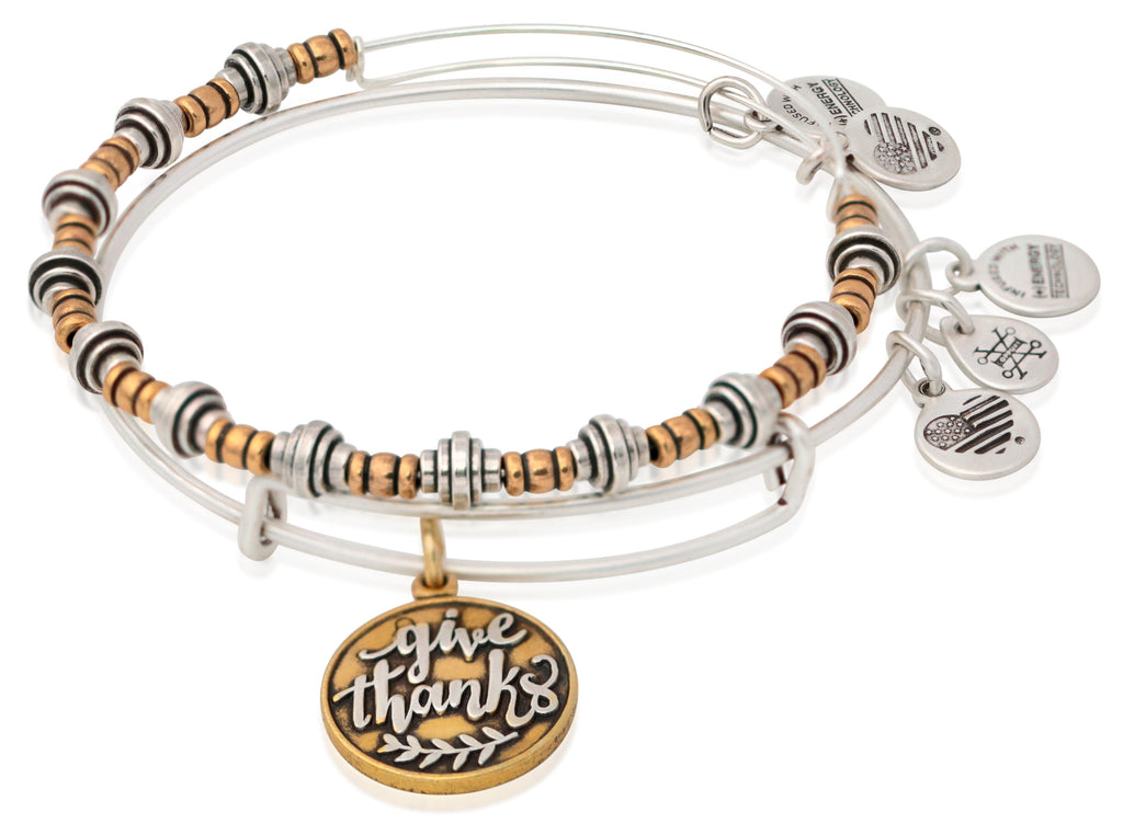 Alex And Ani Give Thanks - Set of 2 - Two Tone - RS