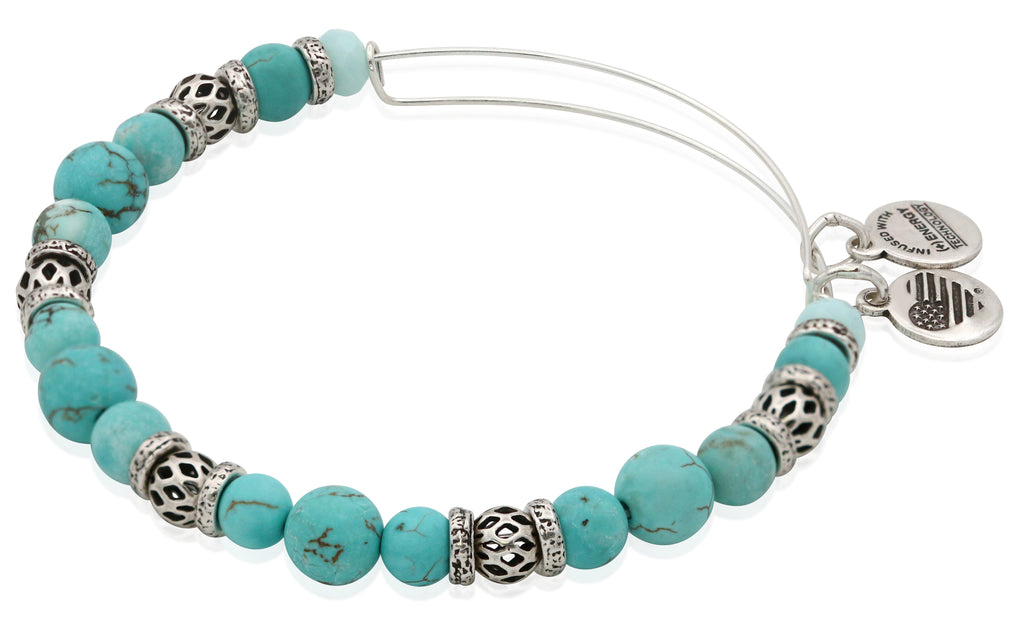 Alex And Ani Cove Azure Bangle - Rafaelian Silver