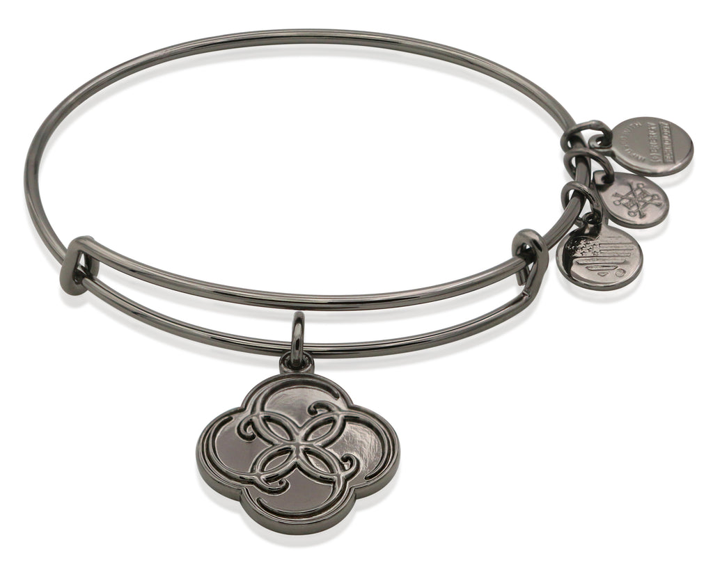 Alex and Ani Breath of Life Bangle Bracelet Midnight Silver NWTBC