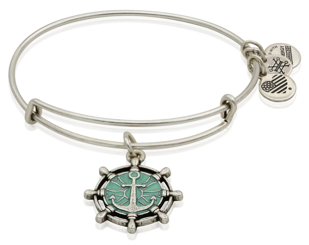 Alex and Ani Anchor Color Infusion Charm Bangle Bracelet