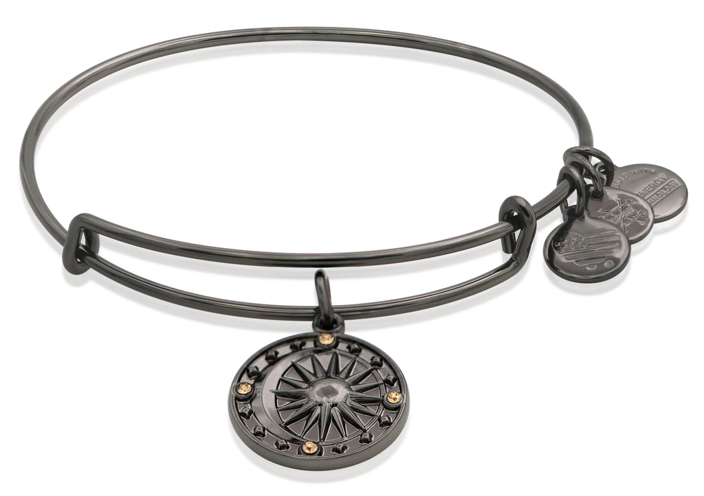 Alex and Ani Cosmic Balance II Bangle Bracelet Midnight Silver NWTBC