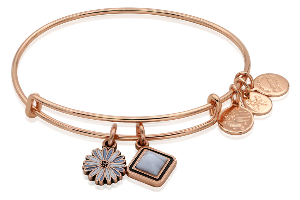 Alex and Ani Life Rose Gold Bangle Shiny Rose Gold