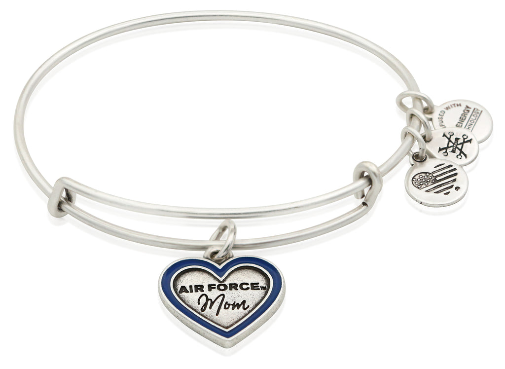 Alex And Ani Air Force Mom Charm Bangle