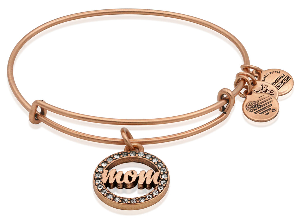 Alex and Ani Womens Crystal Infusion - Mom Bangle Rafaelian Rose Gold