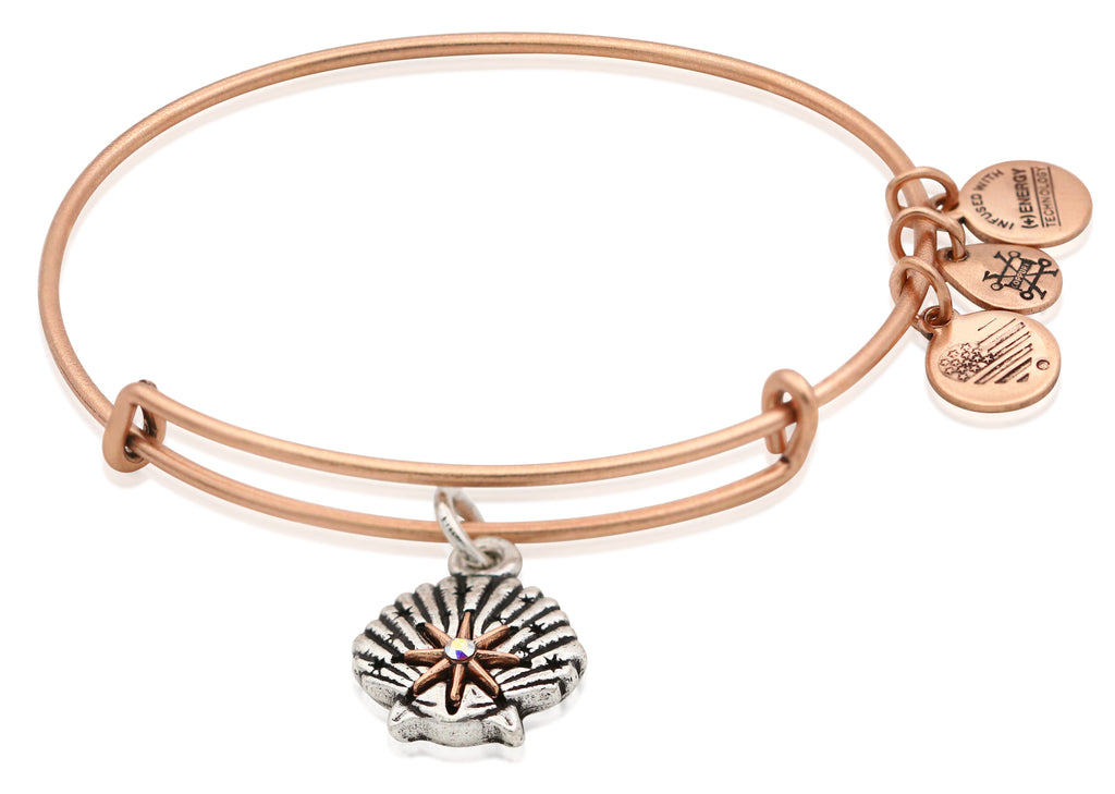 Alex and Ani Star of Venus Two Tone Charm Bangle Bracelet