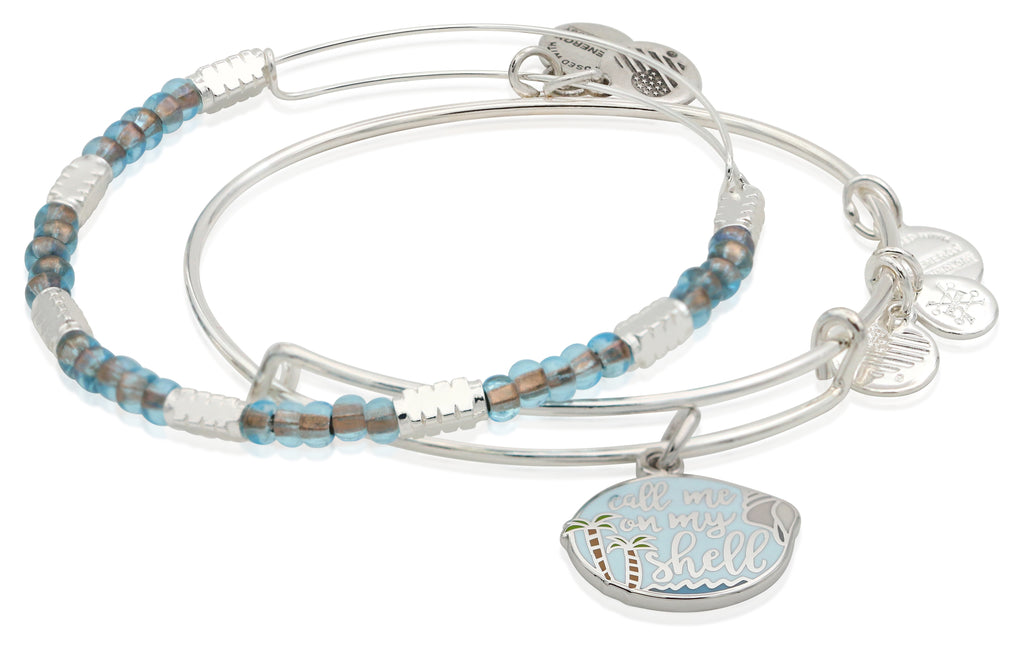 Alex and Ani Call Me On My Shell Set of Two Bangle Bracelets