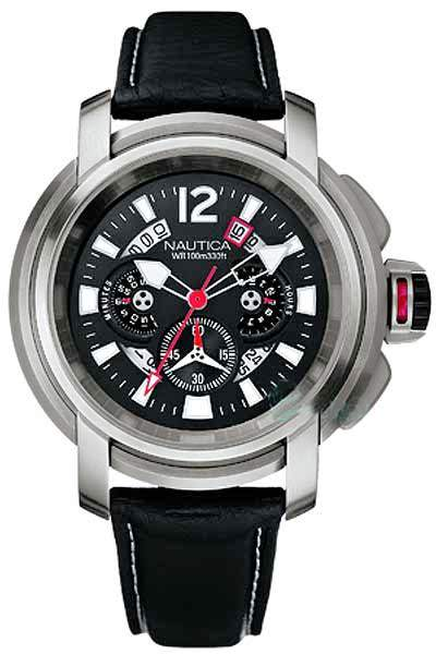 Nautica Leather Mens Watch
