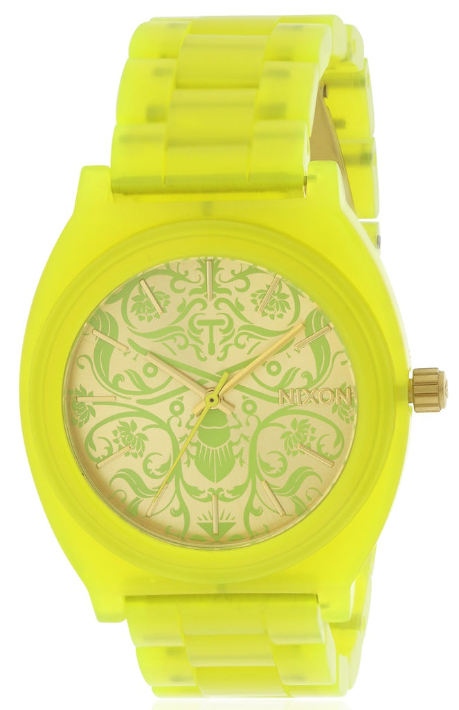 Nixon Time Teller Green Acetate Ladies Watch