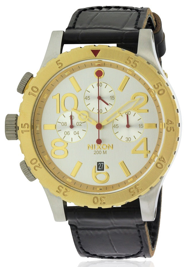 Nixon Chronograph Leather Mens Watch