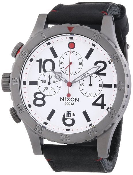 Nixon 48-20 Chrono Leather Mens Watch