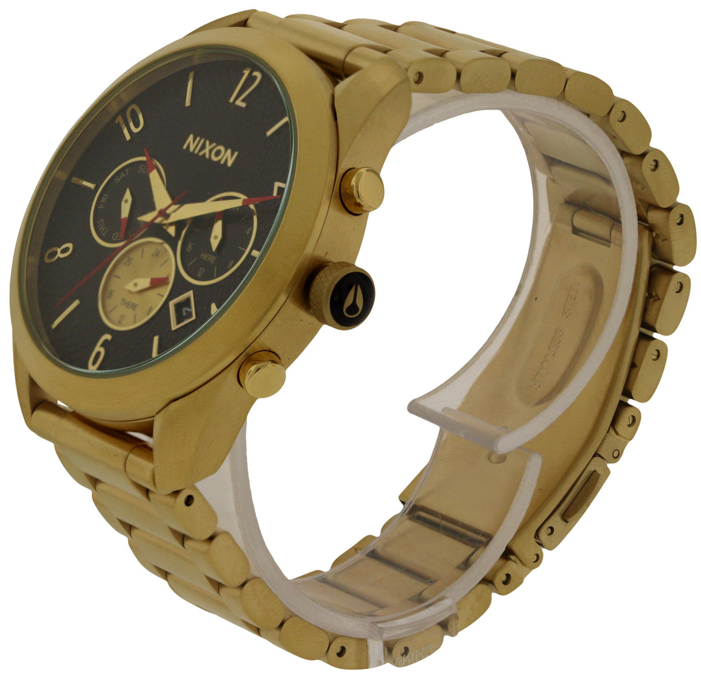 Nixon Bullet Chronograph Gold-Tone Ladies Watch