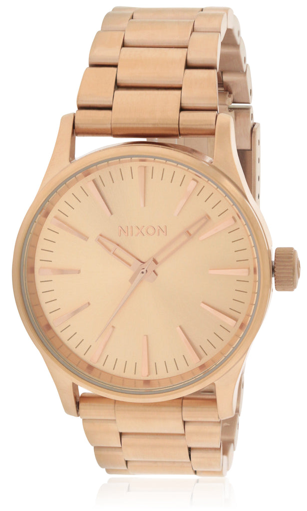 Nixon Sentry 38 Rose Gold-Tone Stainless Steel Unisex Watch