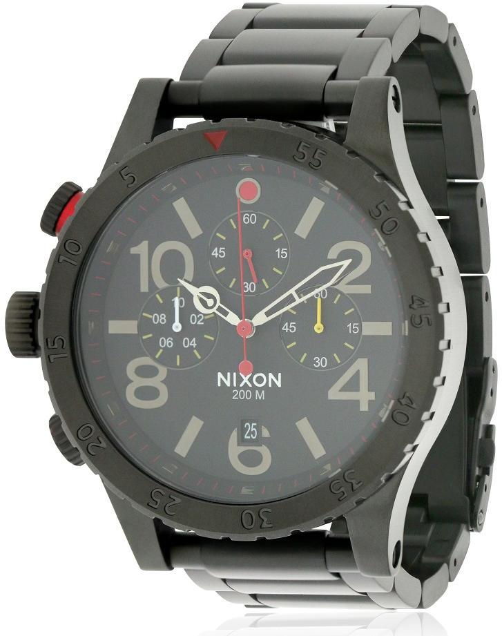 Nixon 48-20 Chrono All Black Mens Watch