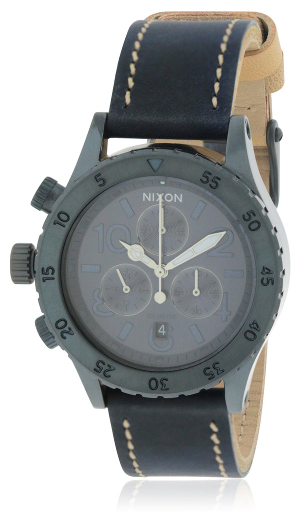Nixon Chronograph Leather Ladies Watch