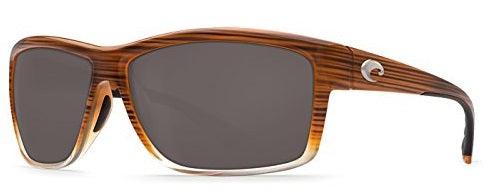 Costa Del Mar Mag Bay Polarized Wood Brown Sunglasses -