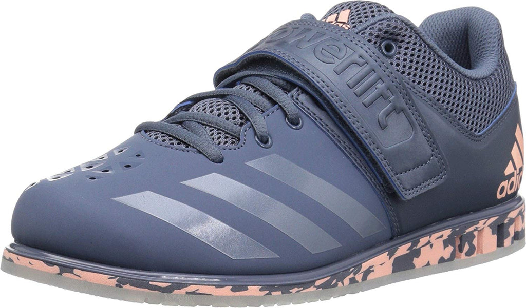adidas Mens Powerlift 3.1 Cross Trainer Shoes/Raw Steel/Raw Steel/Clear Orange/12