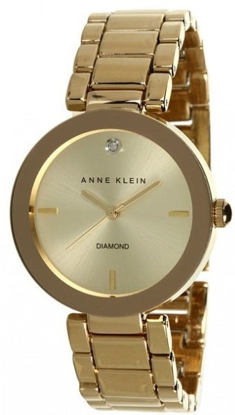 Anne Klein Gold-Tone Stainless Steel Ladies Watch