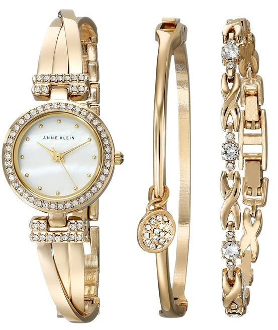 Anne Klein Gold-Tone Bracelet and Ladies Watch