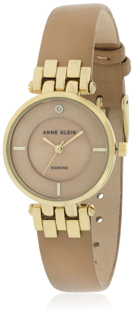 Anne Klein Leather Watch and Bangle Set Ladies Watch