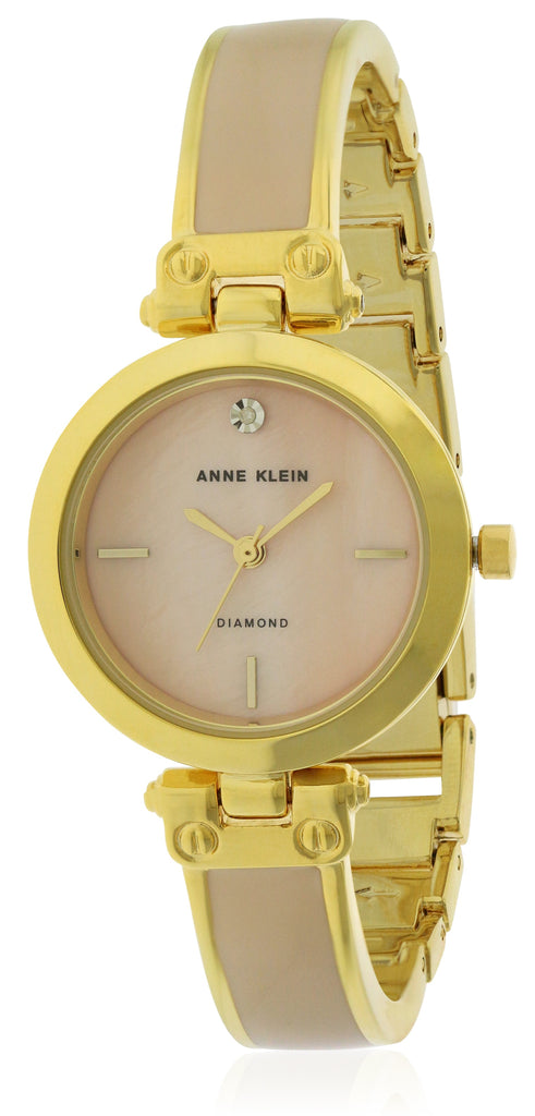Anne Klein Gold-Tone With Ceramic Ladies Watch AK-2558CHGB