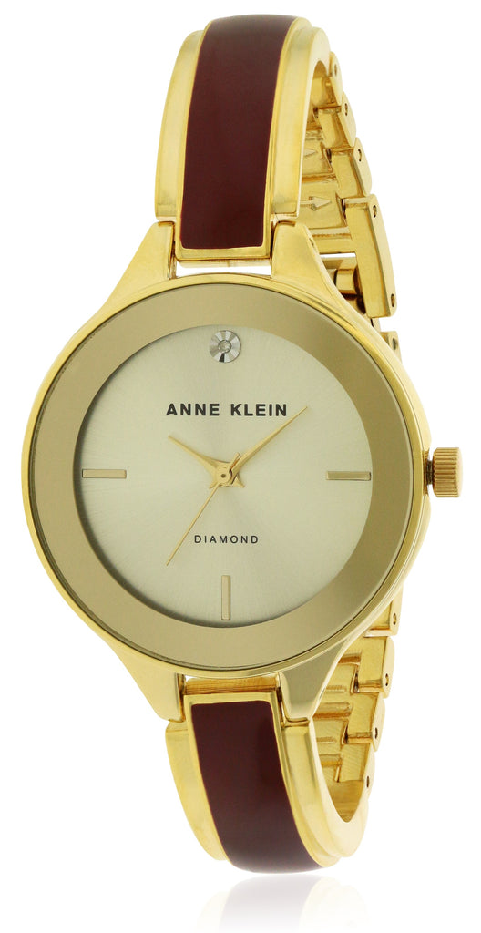 Anne Klein Gold-Tone With Ceramic Ladies Watch