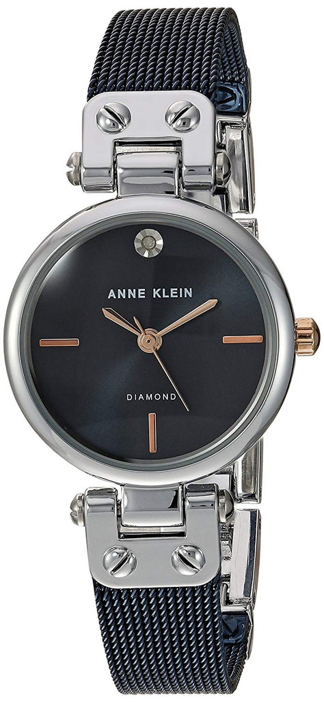 Anne Klein Black Stainless Steel Ladies Watch