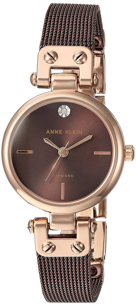 Anne Klein Brown Stainless Steel Ladies Watch