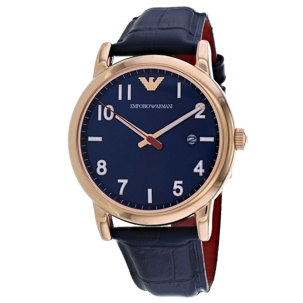 Emporio Armani Leather Mens Watch