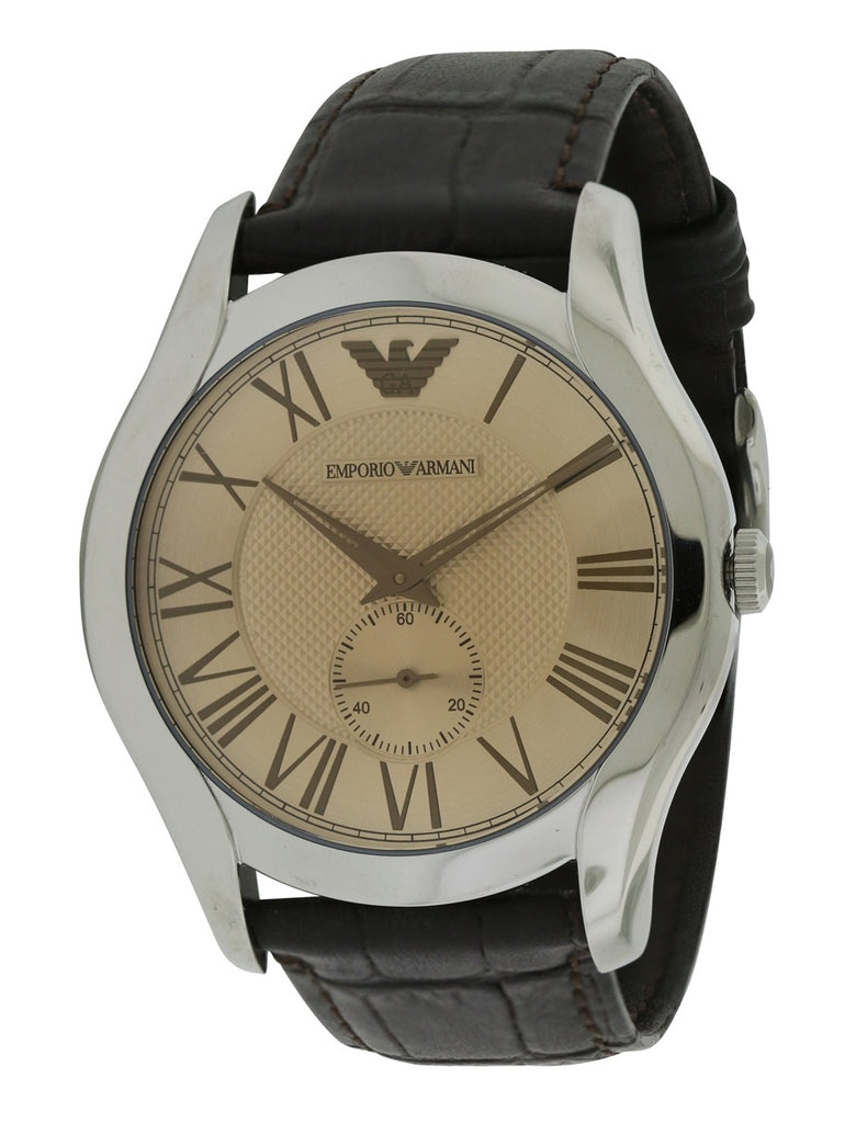 Emporio Armani XX Dark Brown Croco Leather Mens Watch