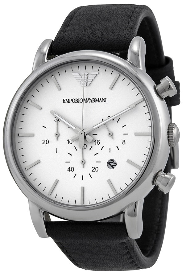 Emporio Armani Classic Leather Mens Watch Jacob Time