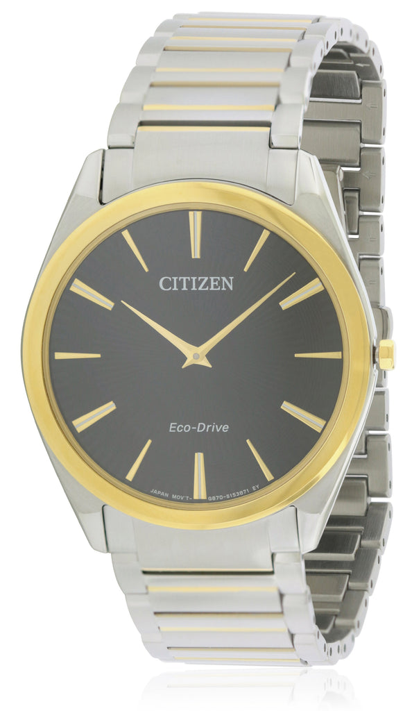Citizen Eco-Drive Stiletto Two-Tone Mens Watch
