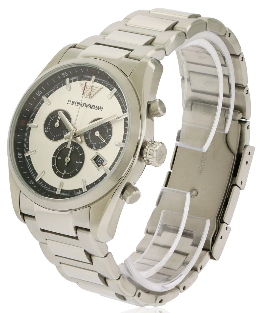 Emporio Armani Stainless Steel Chronograph Mens Watch