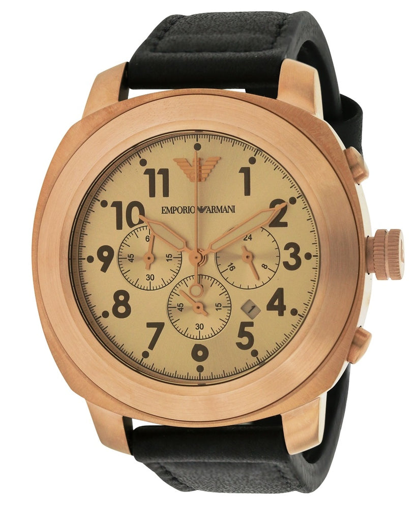 Emporio Armani Sport Leather Mens Watch