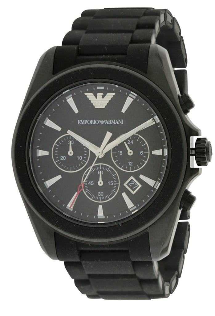 Emporio Armani Sport Rubber Chronograph Mens Watch