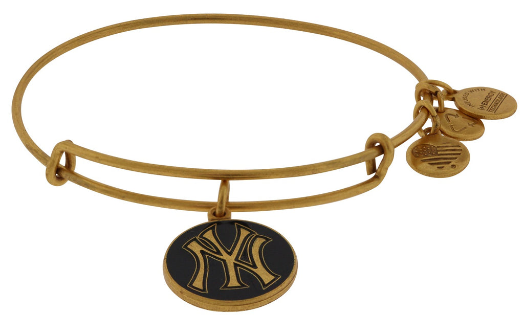 Alex and Ani Navy New York Yankees Cap Logo Charm Bangle Bracelet -