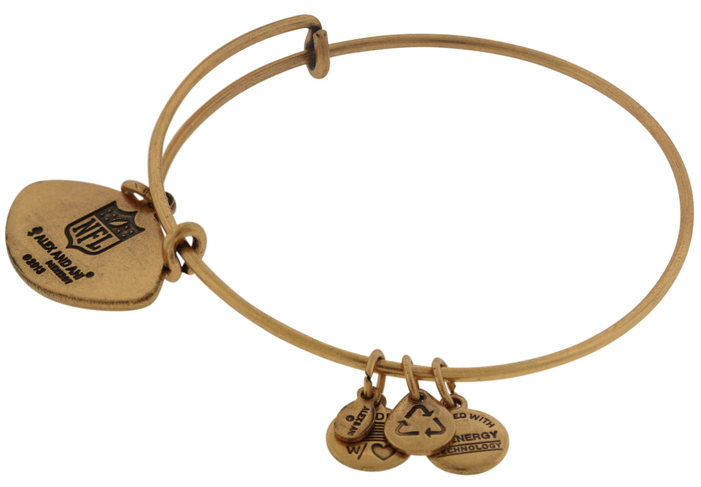 Alex and Ani NFL New York Jets Football Expandable Wire Bangle Bracelet -