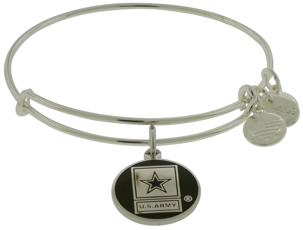 Alex and Ani U.S. Army Charm Bangle - Shiny Silver -