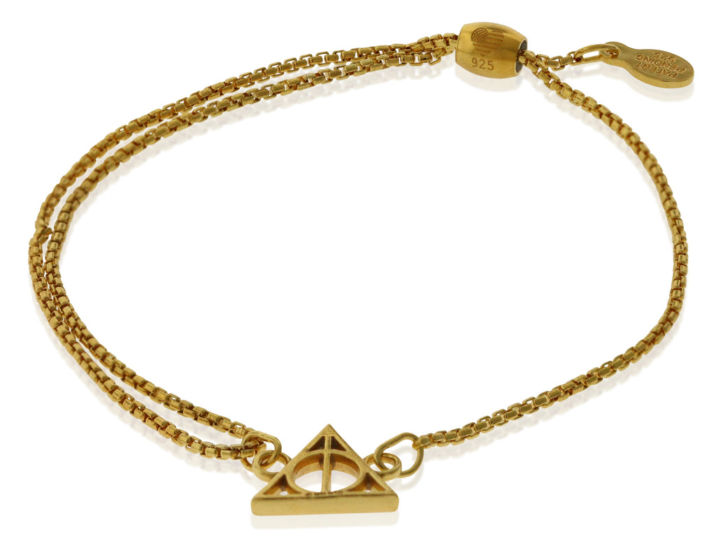 Alex And Ani HARRY POTTER DEATHLY HALLOWS Pull Chain Bracelet -