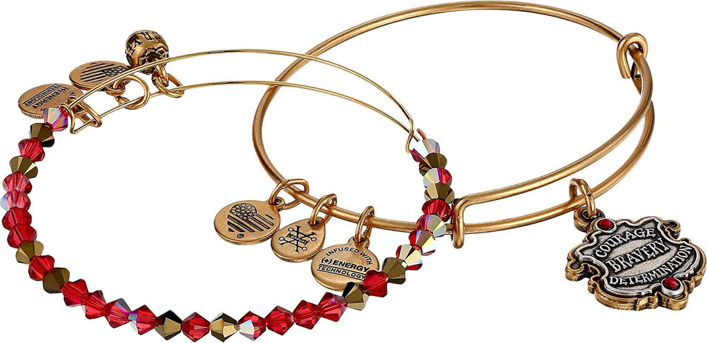 Alex And Ani Harry Potter - Gryffindor Motto Set of 2 - Two Tone - RG Bracelet -