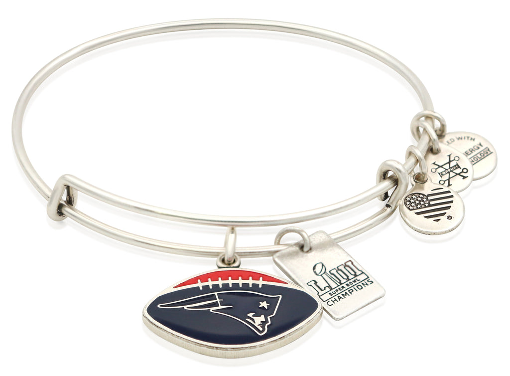 New England Patriots Super Bowl LIII Championship Football Charm Bangle