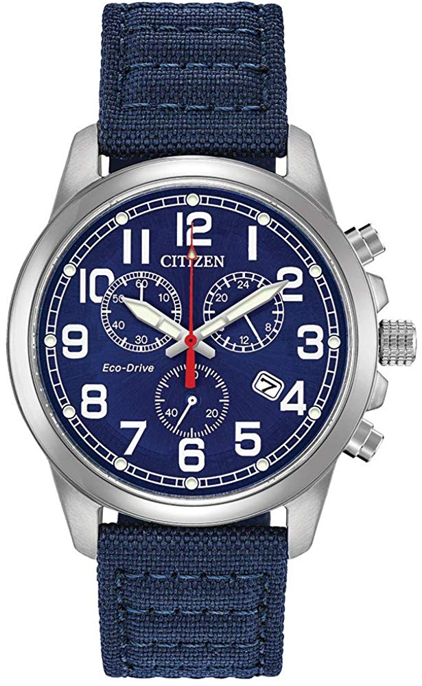Citizen Eco-Drive Military Chronograph Mens Watch