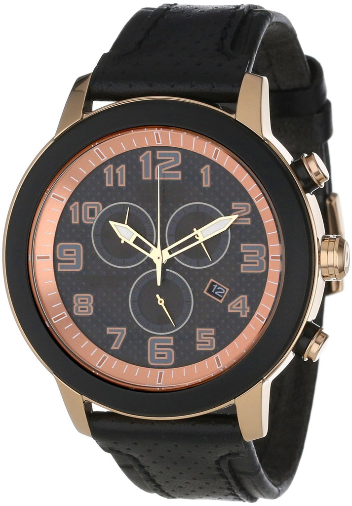 Citizen DRIVE BRT 3.0 Chronograph Black Leather Mens Watch AT2233-05E