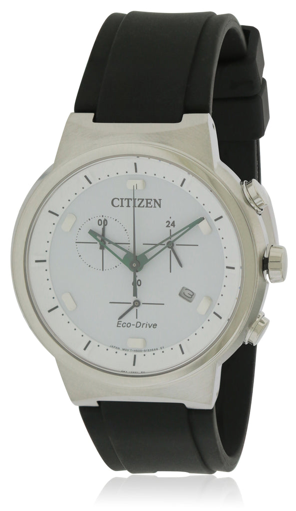 Citizen Eco-Drive Paradex Leather Chronograph Mens Watch