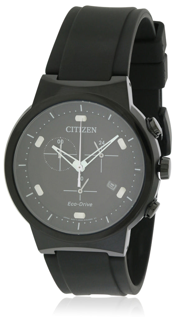 Citizen Eco-Drive Paradex Rubber Chronograph Mens Watch