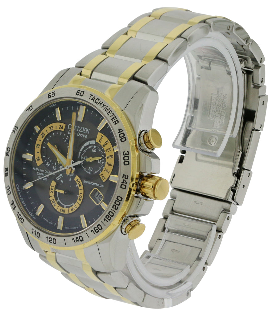 Citizen Eco-Drive Chronograph Two-Tone Mens   Watch