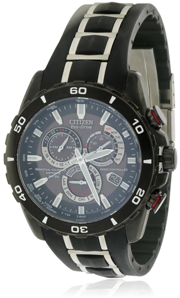 Citizen Eco-Drive Limited Perpetual Chrono Atomic A-T Mens Watch