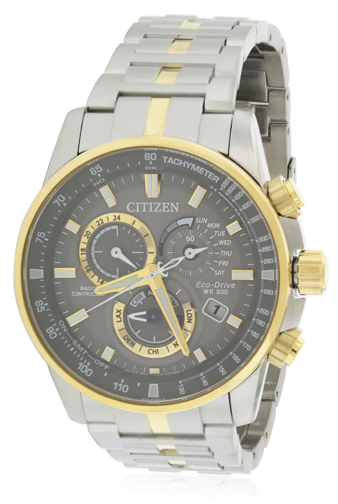 Citizen Eco-Drive Two-Tone Chronograph Mens Watch