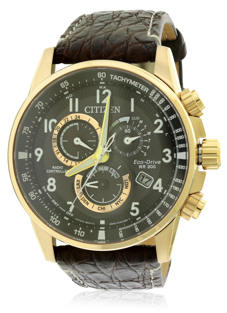 Citizen Eco-Drive Perpetual Alarm Chronograph Mens Watch