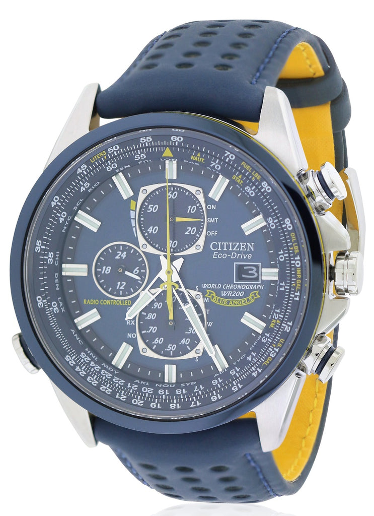 Citizen Eco-Drive Blue Angels Chronograph Atomic Mens Watch