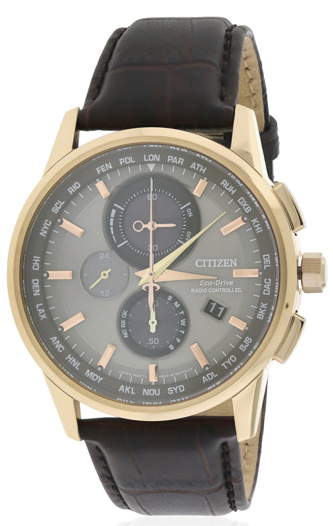 Citizen Eco-Drive World Chronograph A-T Atomic Mens Watch
